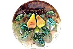 Antique French Majolica Pear Platter on OneKingsLane.com