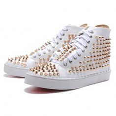 3d1902b71602 Buy New Arrival Christian Louboutin Mans White Patent Leather Gold Sticker  Sneakers from Reliable New Arrival Christian Louboutin Mans White Patent  Leather ...