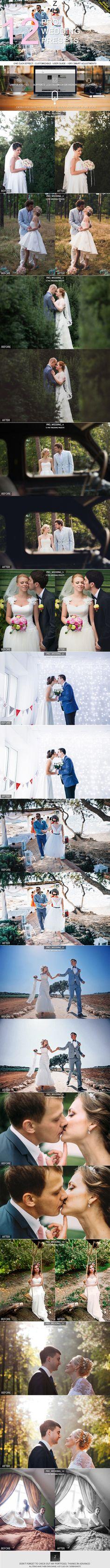 12 Pro Wedding Presets - Lightroom Presets Add-ons