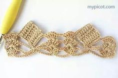 crochet inspiration : neat edging with blocks and shells