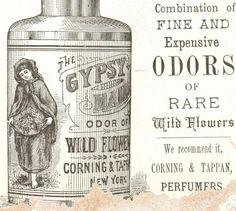 GypsyMaidPerfume vintage medicine label #quackMedicine