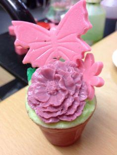 Sweet pea flower pot SLS free glycerin soap  on Etsy, £3.69