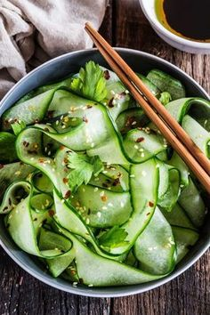 Thai cucumber salad with sesame - ginger dressing www. - Thai cucumber salad with sesame – ginger dressing www. Thai Cucumber Salad, Cucumber Recipes, Vegetable Recipes, Cucumber Dressing, Recipes With Cucumbers, Cucumber Ideas, Cucumber Snack, Cucumber Salad Vinegar, Vegetable Nutrition