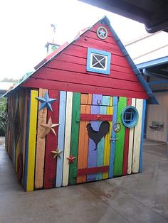 For the shed in the back yard. multi colored paint job for sure.