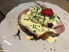 Breakfast at Mae Aurel - don't come for the Eggs Benedict Breakfast Menu, Breakfast Options, Breakfast Around The World, Tomato Pesto, Cafe Restaurant, Ham, Bacon, Eggs, Dishes