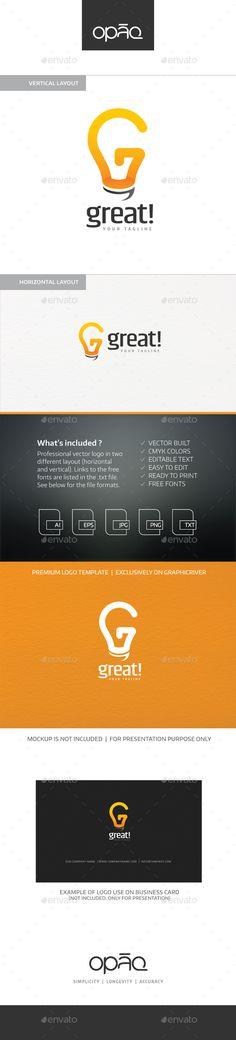 G Letter Bulb Logo — Vector EPS #technologies #letter g • Available here → https://graphicriver.net/item/g-logo/4065995?ref=pxcr