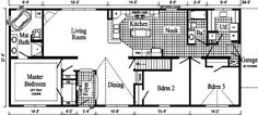 Ranch Style Open Floor House Plans | The Pennflex II Ranch Model HR170-A - Floor Plan