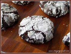 Shugary Sweets: Dark Chocolate Mint Crinkle Cookies