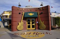 hard rock san fran- same pier with that lousy sport store bah but awesome pier