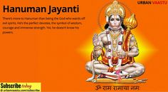 #Hanuman Jayanti : God who Wards Off Evil Spirits.
