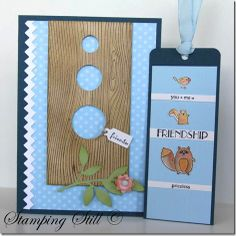 I love this idea for a card with a bookmark!