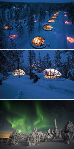 These incredible hotels in Finland let you watch the Northern Lights from inside a glass igloo.