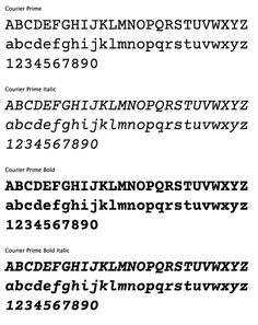 free font: Courier Prime (comes in four styles) #Download