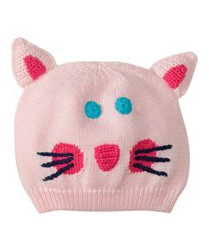 Pink Kitty Snug as a Bug Beanie by Hanna Andersson #zulily #zulilyfinds