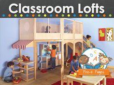 Classroom lofts for preschool and kindergarten