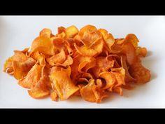(215) How to Make Thin Crispy Sweet Potato Chips   Easy Potato Chip Recipe - YouTube Crispy Sweet Potato Chips, Sweet Potato Slices, Sweet Potato Chips Dehydrator, Tapioca Cake, Paleo Cinnamon Rolls, Homemade Chips, Leftover Mashed Potatoes, Snack Recipes, Snacks