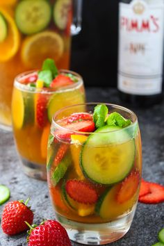 Classic Pimm's Cup - a must have British summer cocktail. Sweet, spicy, and incredibly refreshing! It's not summer without it!