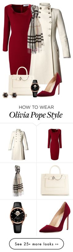 """Olivia Pope Re-styling"" by Dem colors, tho. In love with that cherry red Classy Outfits, Fall Outfits, Cute Outfits, Woman Outfits, Jw Mode, Olivia Pope Style, Olivia Pope Outfits, Outfit Chic, Business Attire"
