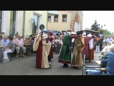 Ancient German Dance   Black Almain dance - Tanzgruppe Saltatio Burgus - Coswig 2011