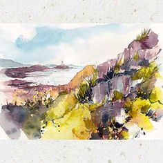 Watercolour and mixed media paintings by Ken Hurd Watercolor And Ink, Watercolour Painting, Watercolors, White Pen, Artist Sketchbook, Affordable Art, Landscape Paintings, Landscapes, Art Journal Pages