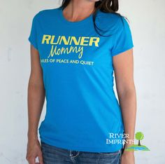 RUNNER MOMMY T-shirt, Performance Short Sleeve Ladies' Fitted or Unisex Fit T-Shirt