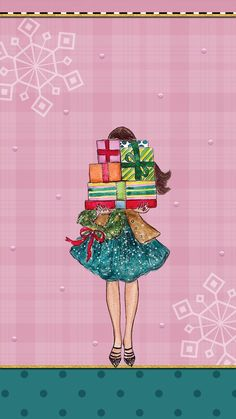 Holiday Iphone Wallpaper, Christmas Phone Wallpaper, New Year Wallpaper, Cute Girl Wallpaper, Cute Wallpaper Backgrounds, Cute Wallpapers, Winter Wallpaper, Phone Wallpapers, Christmas Art