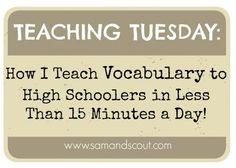 Teaching vocab to high schoolers // samandscout.com