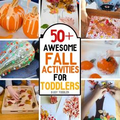 You must check out these awesome fall ideas for your children! From arts & crafts, to sensory play, they've got it all!