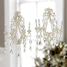 Shelley B Home and Holiday - RAZ Chandelier Christmas Ornaments, $14.00 (http://shelleybhomeandholiday.com/raz-chandelier-christmas-ornaments/)