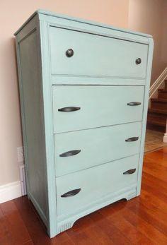 DIY:: Distressing  (dresser) makeover- Tutorial on Distressing Furniture