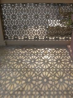 Entrance gate - pattern cut out makes amazing shadows.