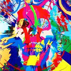 Damien Hirst, Rare original Damien Hirst vinyl record art (Damien Hirst skull art), 2009
