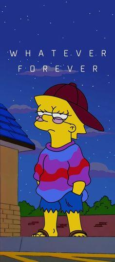 Lisa Simpson Whatever Vaporwave forever - # . - Lisa Simpson Whatever Forever Vaporwave – # - Simpson Wallpaper Iphone, Cartoon Wallpaper Iphone, Sad Wallpaper, Cute Disney Wallpaper, Iphone Background Wallpaper, Aesthetic Iphone Wallpaper, Aesthetic Wallpapers, Lisa Simpsons, Simpsons Art