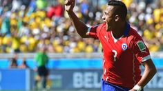 Alexis Sanchez scores for Chile   www.supersoccersite.com