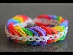 Bracelet rainbow loom zigzag
