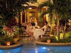 Couples should consider booking butler-serviced Grand Luxury suites with soaking tubs & intimate dinners pour deux on the open air patios...
