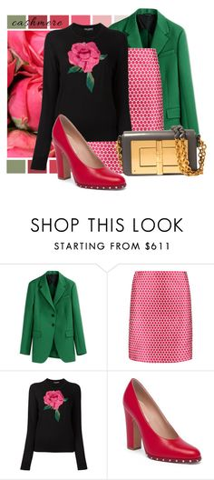 """""""Roses and Cashmere"""" by interesting-times ❤ liked on Polyvore featuring Jil Sander, Saloni, Dolce&Gabbana, Valentino, Tom Ford and cashmere"""