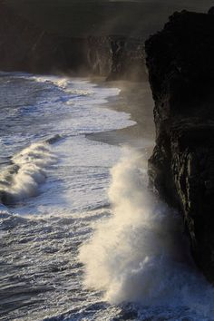 Waves at Dyrholaey | Iceland by JDurston2009