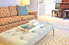 Some Changes Around Here (or: How To Turn A Coffee Table Into A Tufted Ottoman).