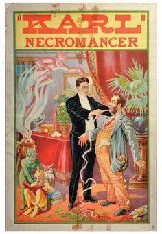 Karl the Necromancer stock magician poster 1920s