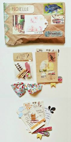 ♥♥♥ Lovely Snail Mail package to Seaweedkisses. Nice work Michelle. ♥ Snail mail art at its best.