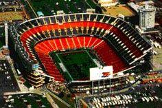 The old Mile High Stadium.