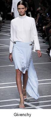 Light blue and white, the new navy look bu Givenchy