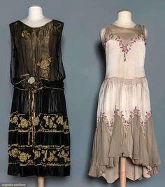 2 Evening Dresses, 1920s, Augusta Auctions, May 13, 2015 - Sturbridge, MA, Lot 1006