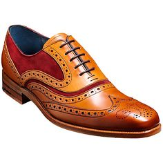 These men's McClean brogues by Barker have been manufactured using the respected Goodyear welt technique, ensuring that these shoes are built to last. These Oxford front lace-up shoes feature traditional punched detailing throughout, delightful suede and Tie Shoes, Men S Shoes, Suede Shoes, Lace Up Shoes, Shoe Boots, Dress Shoes, Derby, Fendi, Leather