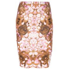 Mcq By Alexander Mcqueen rose print skirt ($302) ❤ liked on Polyvore