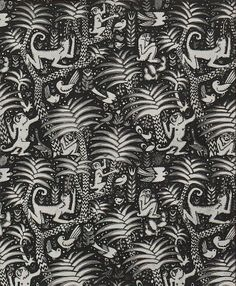 'Urwald' textile design by Ludwig Heinrich Jungnickel, produced in 1913.