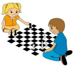 Chess for kids.  Simple instructions and illustrations to teach kids to play.  Also has links to print out chess board and pieces!