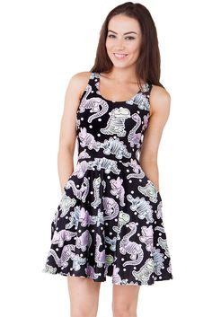 611ee71d22 Living dead have this design in leggings and a dress Skater Dress