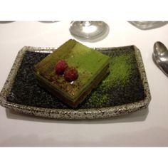 Green tea - chocolate cake